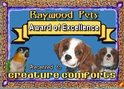 Baywood Pets Award of Excellence
