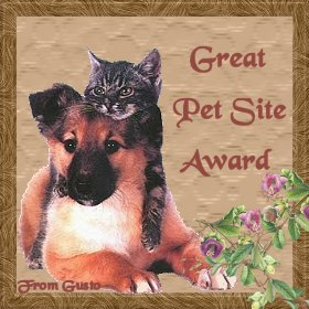 Gusto's Great Pet Site Award
