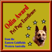 Odin's Pet Page Excellence Award